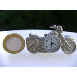 Reloj Miniatura Funcionando Tipo Motocicleta - No Envío