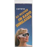 Óculos Carena Importado Com Rádio Fm Novíssimo