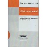 ¿que Es Un Autor? Michel Foucault