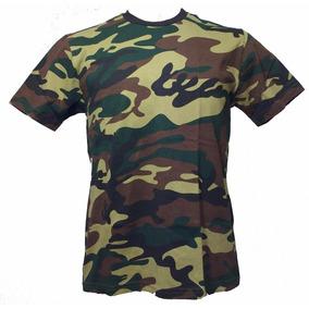 Camiseta Metal Silker Camuflada Verde