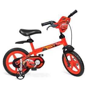 Bicicleta Infantil Menino Mcqueen Carros Bandeirantes Aro 14