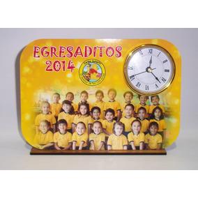 Reloj Personalizado Egresados Con Foto Souvenirs 10 Unidades