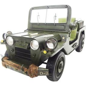 Jeep Exercito Guerra Vintage Retro De Ferro Fundido 28cm