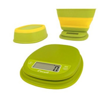Báscula Alimentos Pop Escali C/tazón Retráctil 5kg Verde