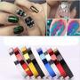 Nail Art - Kit Com 10 Fitas Metalizadas 3d Ondas - Zig Zag.