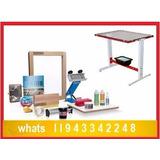 Kit Silk Screen Para Estampar Material Completo Estamparia..