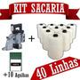 Máquina De Costurar Sacos + 10 Agulhas + 40 Linhas