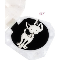 Dije Perro Chihuahua Plata Grabado Y Cadena Amo A Mi Mascota