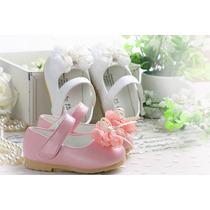 Sapato Infantil Menina Aniversario Batizado Luxo 1 Ano