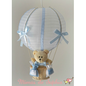 Lustre Luminária Balão Para Quarto Bebê Ou Infantil - Urso