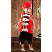 Disfraz De Pirata Completo Para Bebes Hermoso Miralo! Jiujim
