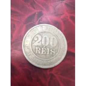 Moeda De 200 Reis De 1897 - República - Cuproniquel