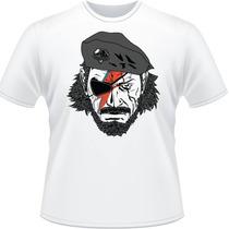 Camiseta Snake David Bowie Metal Gear Solid V Camisa Branca