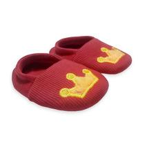 Sapato Bebê Vermelho Com Bordado Amarela | Isabb (original)