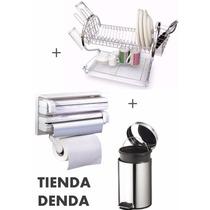 Set De Cocina Completo-portarollo+cesto12l+escurridor*denda*