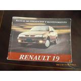 Manual Del Propietario Renault 19 --- 1996 (c-6