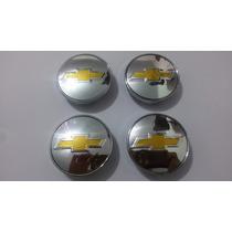 Kit Calotinha Centro De Roda Chevrolet Cromado 51mm + Brinde