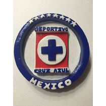 Escudos Futbol Maquina Cruz Azul Yeso Hecho A Mano Liga Mx