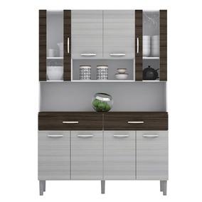 Cozinha 8 Portas 2 Prateleira 2 Gaveta Branco - Kit
