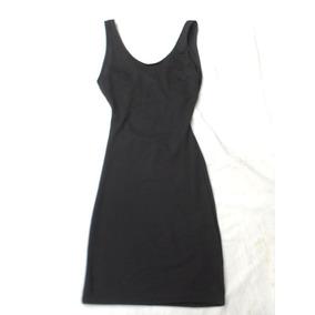 Vestido Negro Mujer Espalda Cruzada Talle Xs Nuevo