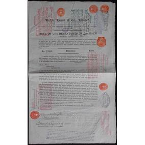 Apólice England Richd. Evans & Co Limited Jan 1899 * C O L *
