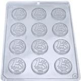Forma De Acetato Para Chocolate Moeda De 1 Real - 20 Formas