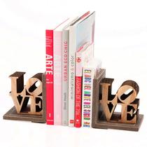 Sujeta Libros Love Carton Corrugado Y Madera Regalos Morph