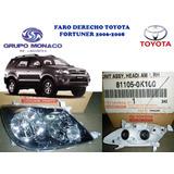 Mnc Faro Derecho Toyota Fortuner 07-08 811050k100