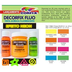 Tinta Acrílica Fluorescente Neon Corfix 60ml *escolha-a-cor*
