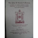 Catalogo De Subasta De Libros De John B Stetson - Año 1953