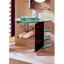 Esatto ® - Mueble De Baño Lavabo Cristal Cromo Mv-005
