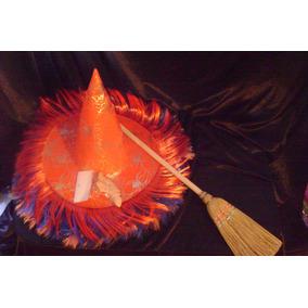 Halloween Disfraz Kit De Bruja Fahion Nariz Sombrero Escoba