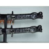 Espada Ninja Samurai Katana C/ Suporte Cabeça De Dragão