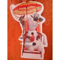 Fiesta De Olaf 8 Stickers Para Cajas, Dulceros Decoración