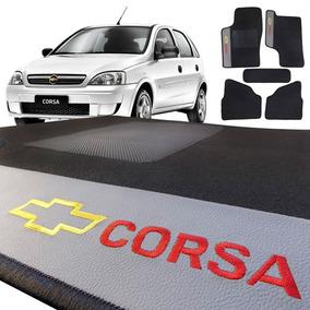 Jogo Tapete Corsa Hatch Sedan 2002 A 2012 Carpete Preto