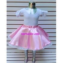 Disfraz Falda De Rock & Roll Disfraces Niñas Bailable Colegi