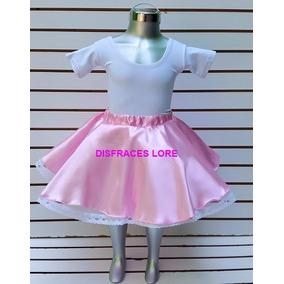 Disfraz Falda De Rock & Roll Rosa Pastel Festival Escuela