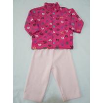 Conjunto Polar Chamarra Y Pantalon Para Niña 1 Año