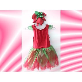 Disfraz Fresita Gymboree Talla S(5-6) Niña De 4 A 5 Años
