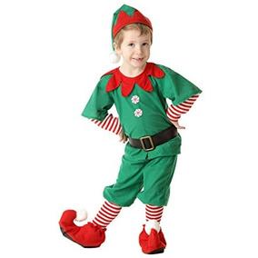 Disfraz Para Niño Traje De Duende De La Navidad Niño Feliz