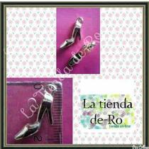 Zapatito Acrílico Plateado/1,5cm/scrapbooking-princesas/ 50u