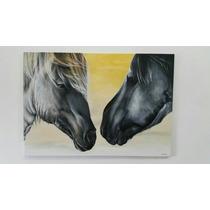 Cuadro Obra Única Moderna Gigante Pintado A Mano Caballos
