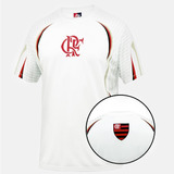 Camisa Flamengo Oficial Passeio Viagem Branca Podium