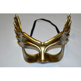 Antifaz De Ángel Dorado Para Disfraz Halloween