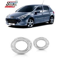 Aro Moldura Cromada Peugeot 307 07 08 09 10 11 12 Par