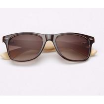 Óculos De Sol Madeira Bambu Bamboo Novidade