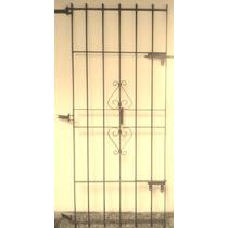 Puerta Reja Hierro Reforzada Pesada 80x200 Con Pasadores
