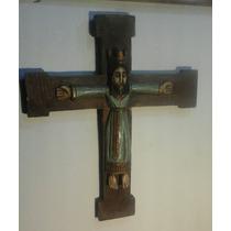 Arte Sacro Antiguo Cristo Catalan Madera Policromada Xix