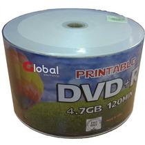 Dvd -r 4.7gb Virgen Printable Global X 50