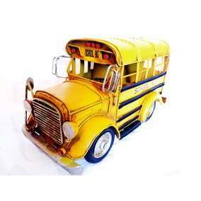 Alcancia Vintage Autobus Escolar Coleccionable Metal Retro